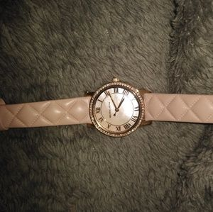 Micheal Kors Pink Leather Watch